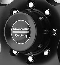 4 American Racing 4 25 Diameter Push Thru Satin Black Center Caps