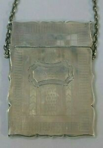 Vintage American Coin Silver Chatelaine Calling Card Case