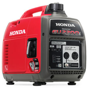 Honda Eu2200ic 2200 watt 121cc Companion Recoil Start Portable Generator Red