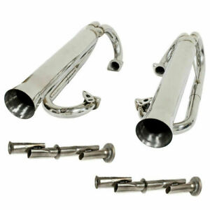Empi 56 3709 Stainless Buggy Dual Racing Exhaust System Vw Baja Bug Manx Trike
