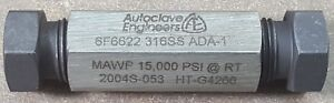 Parker Autoclave Engineers 6f6622 15 000 Psi rt Straight Fitting For 3 8 Pipe