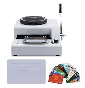 68 Letter Manual Stamping Machine Pvc id credit Vip Card Embosser Code Printer