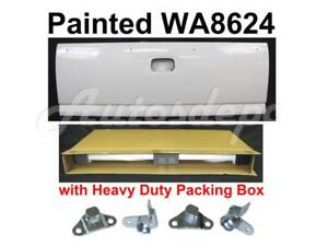 Painted Wa8624 Summit White Tailgate Hinge For Silverado Fleetside 1999 2006