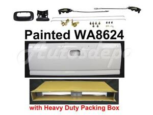Painted Wa8624 White Tailgate Lock Kits For Silverado Fleetside 1999 2006
