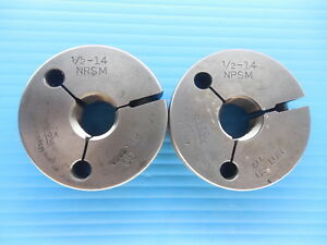 1 2 14 Npsm Thread Ring Gages 5 Go No Go P d s 7784 772 Inspection Tool