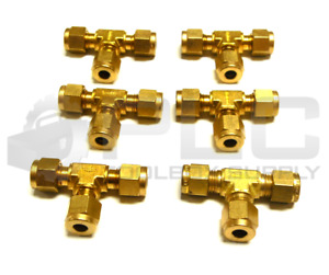New Lot Of 6 Swagelok 1 4 3 Way Union Brass Tee