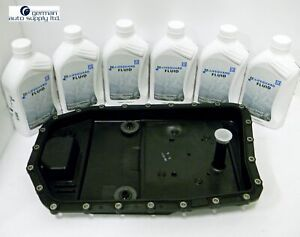 Bmw Transmission Oil Pan Filter And Lifeguard 6 Fluid 6 Liters Package Zf