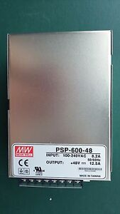 Mean Well Psp 600 48 Ac dc Power Supply Single out 48v 12 5a 600w Us Authorized