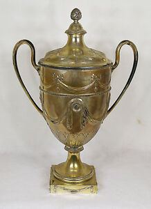 Antique German Schleswig Holstein Royal Family Sterling Silver Urn J H Werner