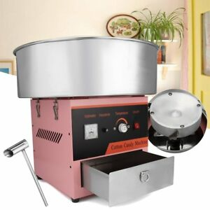 220v Electric Commercial Cotton Candy Machine Fairy Sweet Floss Sugar Maker