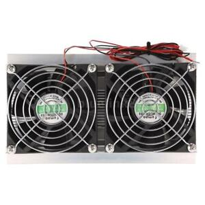 12v 10a 120w Thermoelectric Peltier Cooling System Radiator Cooler Double Fan