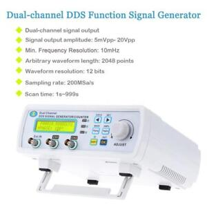 25mhz 200msa s 2ch High Precision Dds Digital Signal Generator Frequency Meter