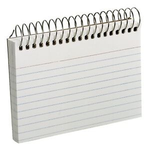 Oxford Spiral Index School Study Note Cards 3 X 5 50 Cards White Free Ship