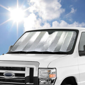 Large Jumbo size Reversible Dual layer Car Auto Sun Shade Windshield Reflector