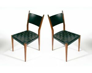 Pair Mid Century Modern Directional Side Chairs By Paul Mccobb