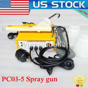 Portable Electrostatic Powder Coating System Pc03 5 Spray Gun