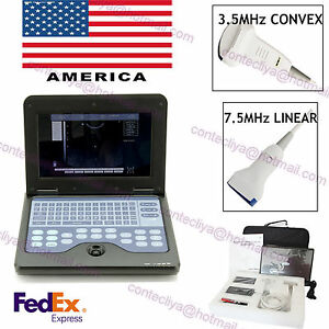 Usa Portable Laptop Ultrasound Scanner Diagnostic Machine Convex Linear Probe