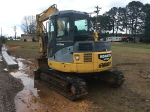 2007 Komatsu Trackhoe Pc78mr 6 100 Hours Hydraulic Thumb Ac And Radio