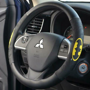 Awesome Batman Dc Comics Synthetic Leather Steering Wheel Cover Black Yellow