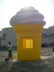 16ft tall Commercial Inflatable Ice Cream Concession Stand Food Tent Booth