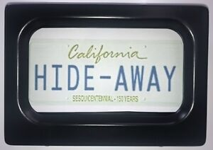 New Metal Motorcycle Hide away Cover Up Stealth License Plate Frame Rear Kit