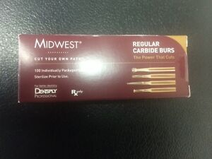 Dental Midwest Carbide Burs Fg 330 100 Burs In A Box 385261