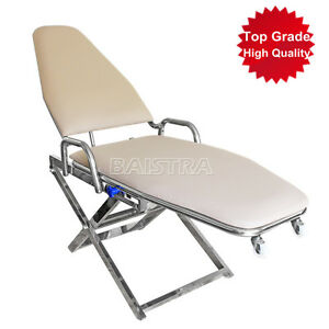 Dental Chair Cuspidor Tray Portable Folding Backrest Durable Stainless Dhl Ship