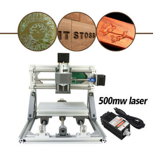 Us Mini Cnc 1610 500mw Laser Cnc Engraving Machine Pcb Milling Wood Router Diy