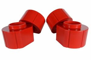 Jeep 2 Red Poly Spacer Lift Kit Set Of 4 Fits Grand Cherokee Zj Wrangler Tj