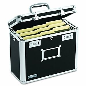 Locking File Box Folder Lock Storage Chest Portable Suitcase Safe Tote Transport