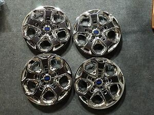 Set Of 4 Brand New 2010 2011 2012 Fusion Wheel Covers Hubcaps Chrome 7052