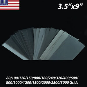 Wet And Dry Sandpaper 3 5 X9 80 3000 Grit Quality Waterproof Sanding Paper