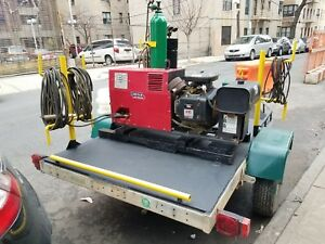 Lincoln Welder Generator On Cox Utility Trailer W Title Torch Kit With Oxygen