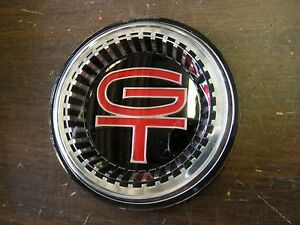 Repro Ford 1966 Fairlane Gt Grille Ornament Emblem Insert Plastic