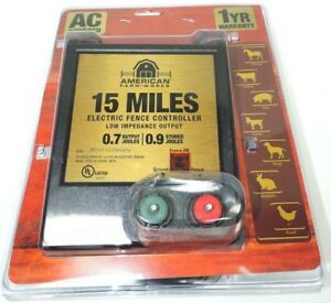 American Farm Works 15 Mile Ac Low Impedance Electric Fence Controller New