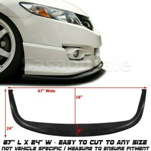 Universal Fit Pu Front Bumper Add On Lip Cs Style Flat Splitter Under Panel