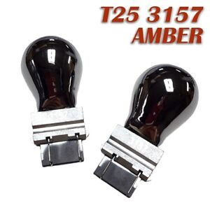 Front Signal T25 3057 3157 4157 Amber Silver Chrome Bulb K1 For Ford