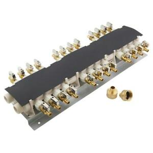 Apollo 6907924cp 24 port Pex Manifold With 1 2 In Brass Ball Valves
