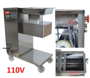 110v Qe Stainless Steel Commercial Meat Cutting Machine Slicer With 3mm Blade