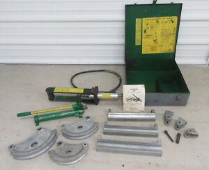 Greenlee 882 Hydraulic Emt Flip Top Conduit Bender 1 1 4 1 1 2 2 Pipe Nice