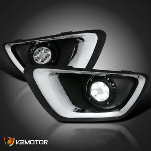 2015 2017 Chevy Colorado Clear 6 led Bumper Lights Driving Fog Lamps Left right