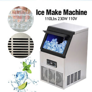 Auto Commercial Ice Maker Built in Undercounter Freestand Machine 110lb 24hr