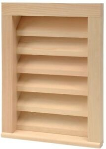 D A Mfg 12 In X 18 In Paintable Wood Rectangular Siding Vent Sturdy Complete