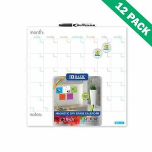 Magnetic Dry Erase Calendar Wall Mounted Wall Calendar Dry Erase Board Set Of 12