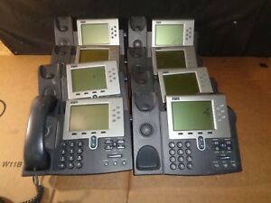 Lot Of 8 Cisco Systems Cp 7961g Ip Phone 7961 Series 1w handset No Power Supp