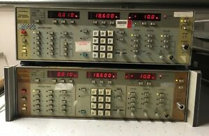 Wiltron 6647a Programable Sweep Generator 10mhz 18 6ghz Opt 03 lot Of 2