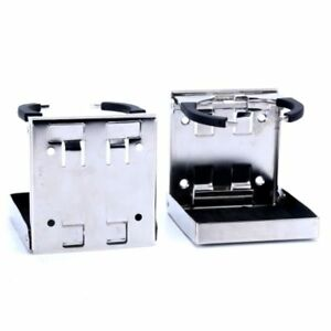 Pair Bigger Stainless Steel Folding Drink Holders For Mug Cup Up To Dia 3 3 8