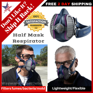 Gvs Half Face Mask Respirator Large Pain Dust Gas Chemical Welding Lung Disease