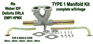 Vw Type 12 Bug Bus Ghia Single Carb Intake Kit Weber Idf Dellorto Drla Empi Hpmx