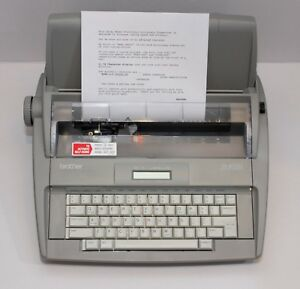 Brother Sx 4000 Typewriter Daisy Wheel Spell Check Lcd Screen Tested